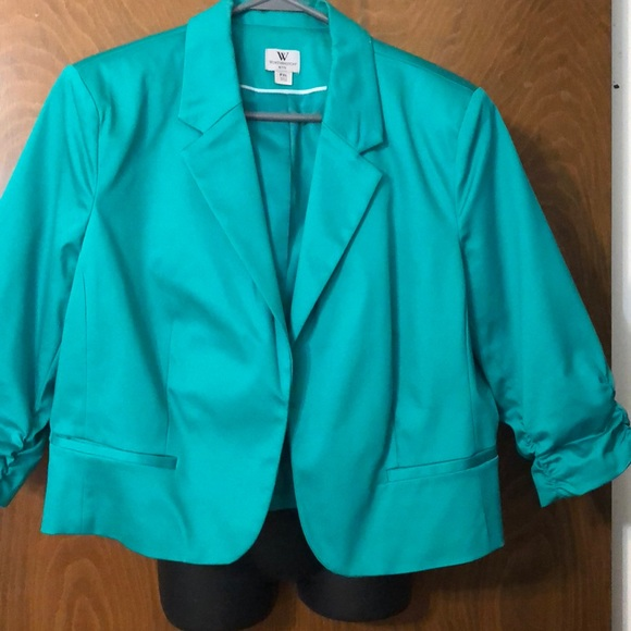 fc6ff0f77d4 Worthington Other - Turquoise petite extra large blazer Worthington